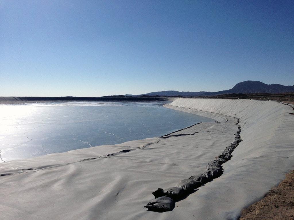 Tailings dam at Eldorado Gold's Tanjianshan mine in China