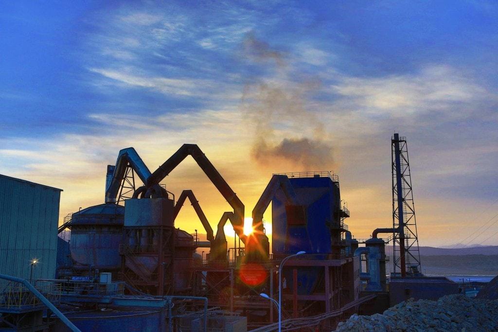 The processing plant at Eldorado Gold's Tanjianshan mine in China