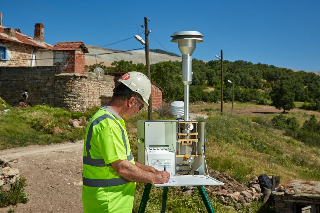 Air quality testing at Kisladag mine site