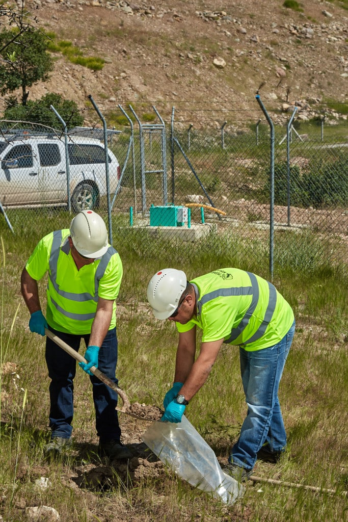 Soil sampling at Kisladag mine site helps with our environmental monitoring.
