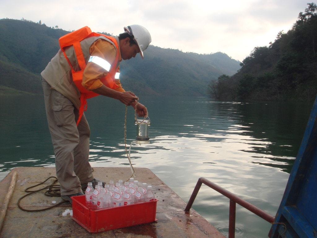 Water sampling at Jinfeng mine site