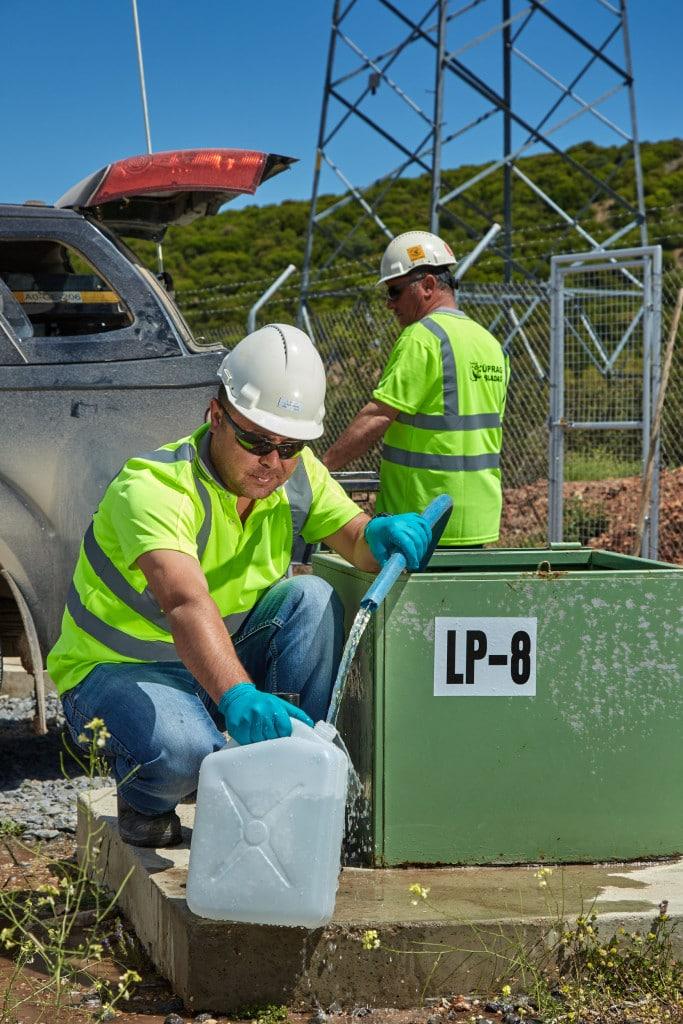 Water testing at Kisladag mine site