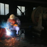 Welding at Tanjianshan