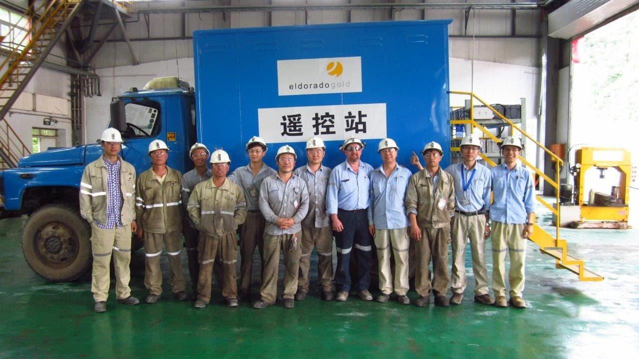 The team who created our tele-remote system at White Mountain in China