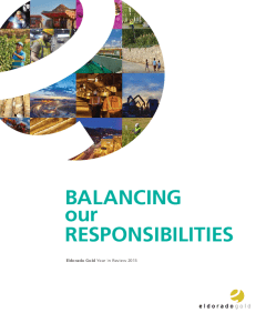 Eldorado Gold sustainability report