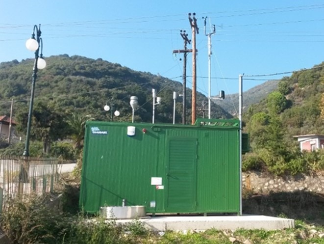 An air quality monitoring station in Halkidiki, Greece.