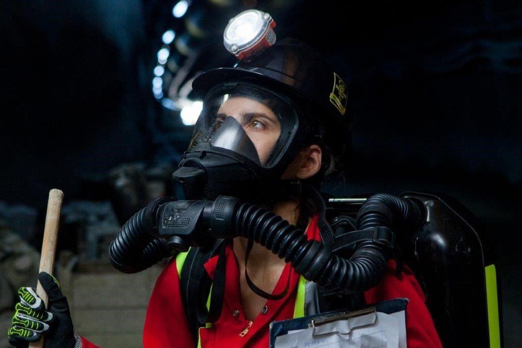 Eirini Psyhari, first female mine emergency responder at Eldorado'sGreek operations.