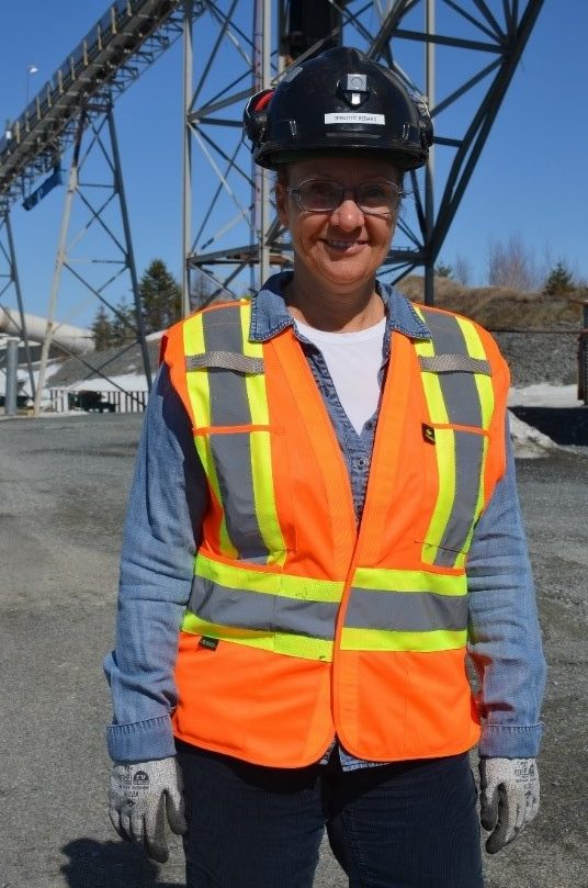 Brigitte Bédard, Health and Safety Coordinator, on the job at Lamaque, Quebec.