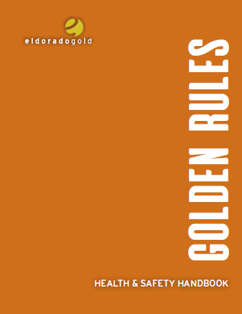 Golden Rules Health and Safety handbook