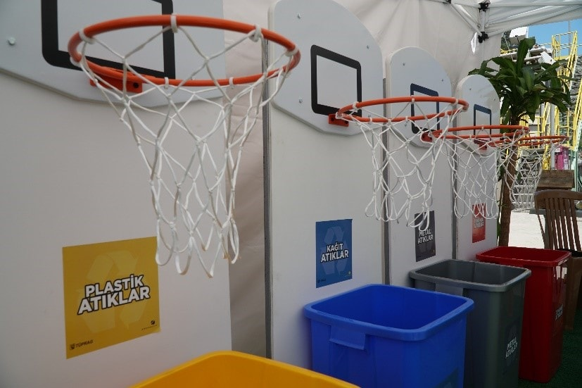 Our team sorted recyclables by playing basketball as one of our World Environment Day activities.