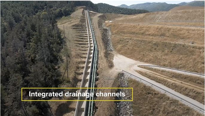 Water diversion channels divert non-contact water away from the Kokkinolakkas TMF