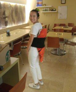 Melanie Jang in a Halloween costume