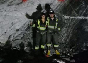 Sara Pedneault in the mine