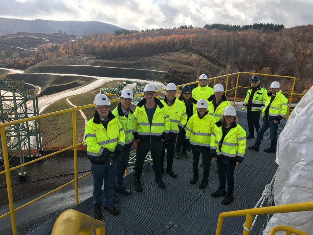 Teresa Conway and other members of the the Eldorado Board of Directors on a site visit to Skouries in Greece.