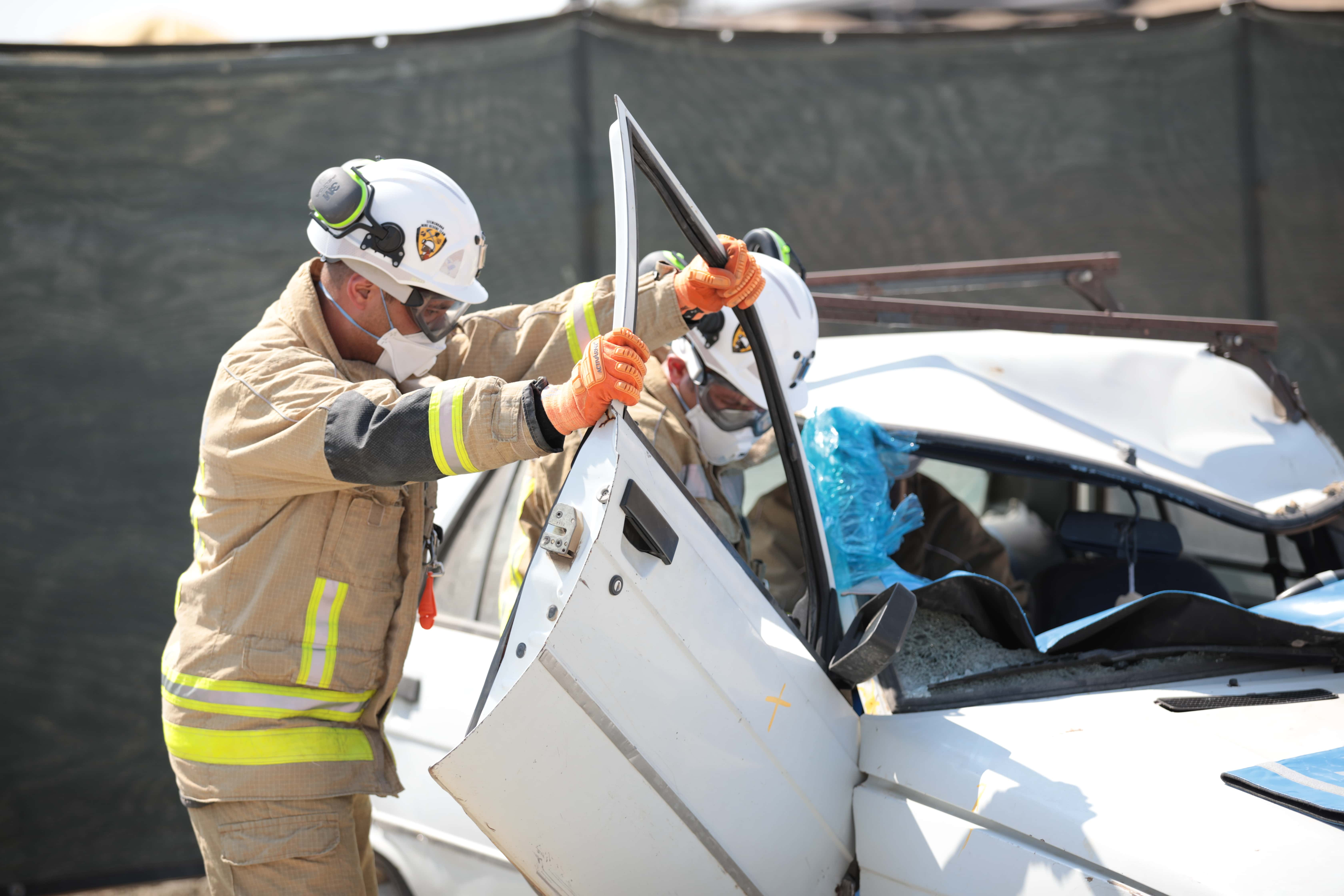 Vehicle accident response activity during the mine rescue competition