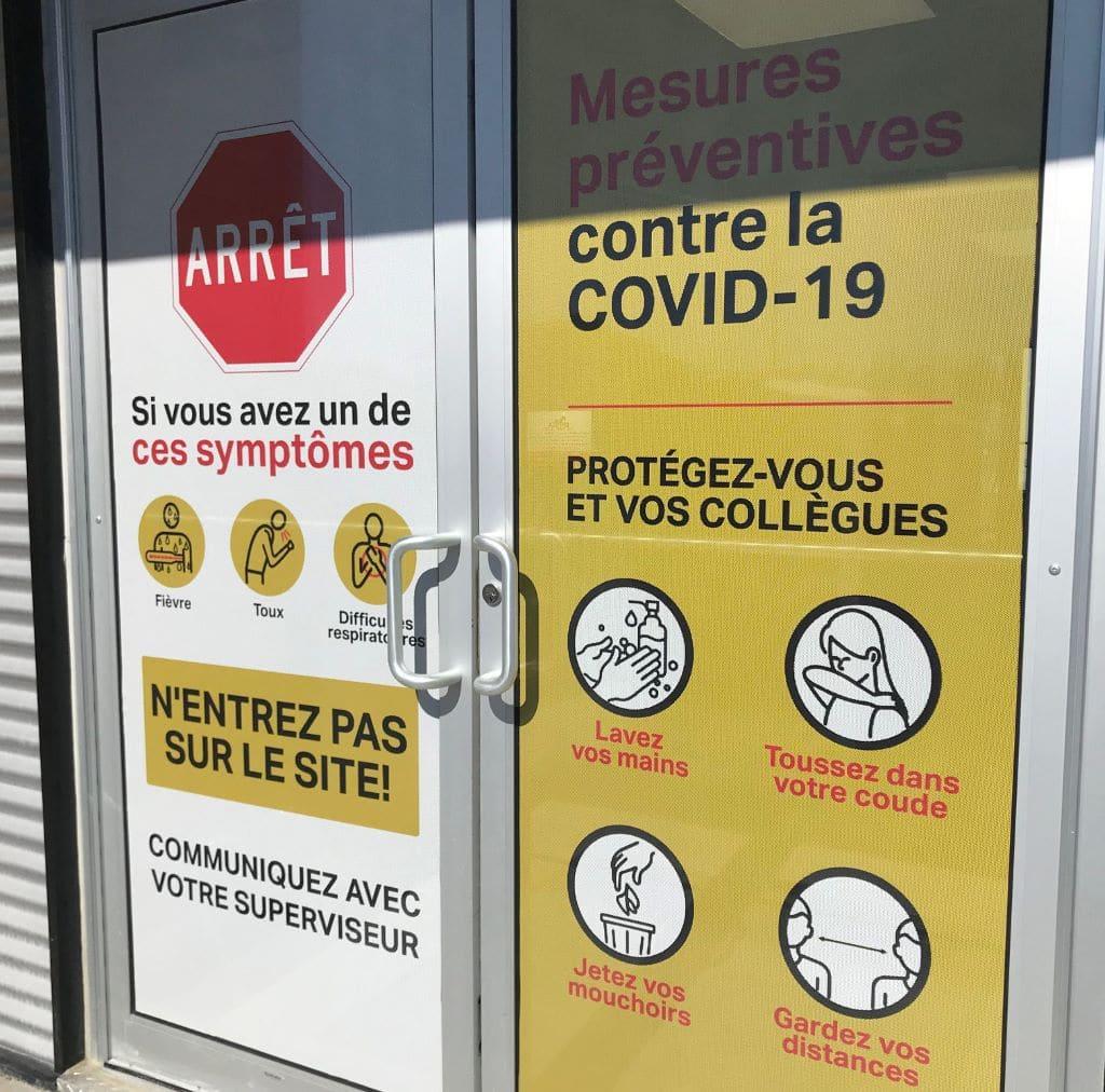 COVID-19 Precaution Door Entrance Sign